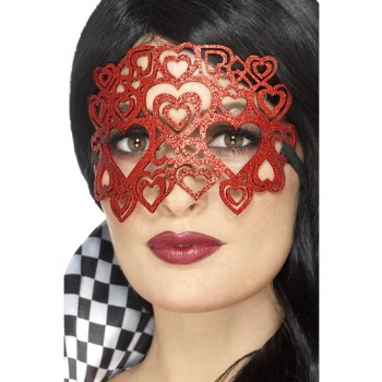 Soft Felt Glitter Eyemask Fancy Dress Accessory