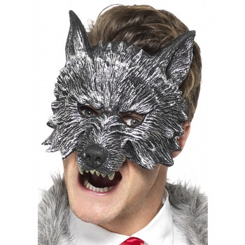 Deluxe Big Bad Wolf Mask Fancy Dress Accessory