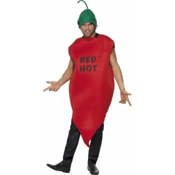 Chilli Pepper Costume Red Hot Fancy Dress Costume (Food)
