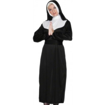 Nun Fancy Dress Costume Ladies (Vicars/Nuns)