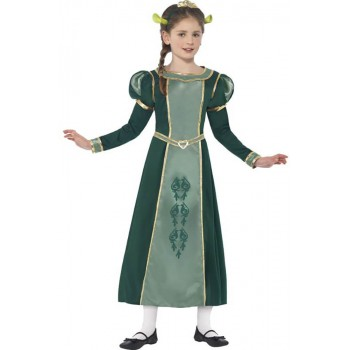 Girls Green Shrek Princess Fiona Fancy Dress Costume