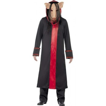 Mens Official Saw Movie Pig Halloween Fancy Dress Costume