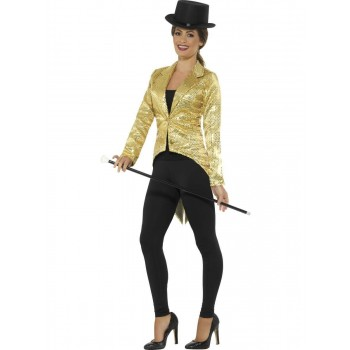 Sequin Tailcoat Jacket, Ladies Fancy Dress Costume