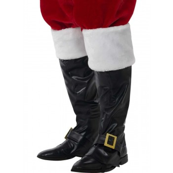 Santa Boot Covers Fancy Dress Accessory