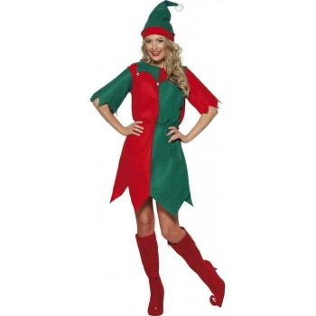 ELF FANCY DRESS COSTUME LADIES (CHRISTMAS)