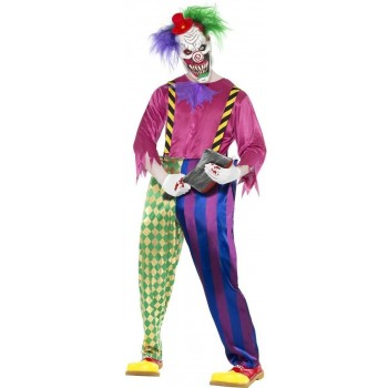Kolorful Killer Klown Fancy Dress Costume Mens (Halloween)