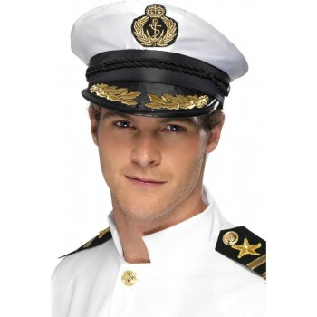 Captain Hat Fancy Dress Mens