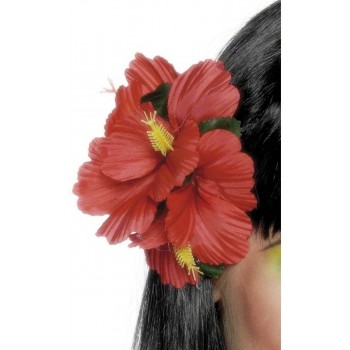 Hawaiian Flower Hair Clip - Fancy Dress Ladies (Hawaiian)