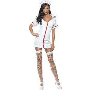 Fever Sexy Nurse Fancy Dress Costume Ladies (Doctors/Nurses)