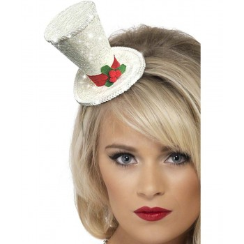 White Christmas Top Hat Headband (Christmas Hats)