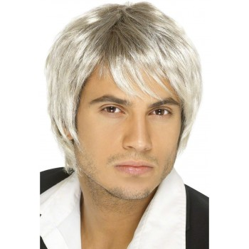 Boy Band Wig - Fancy Dress Mens - Blond