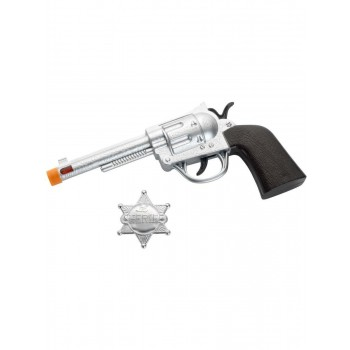 Western Roscoe Gun and Badge Fancy Dress Accessory