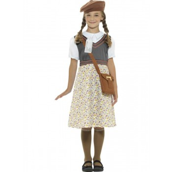 Evacuee School Girl Costume Fancy Dress