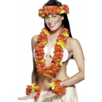 Hawaiian Set Red - Fancy Dress Ladies (Hawaiian)