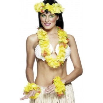 Hawaiian Set Yellow - Fancy Dress Ladies (Hawaiian)