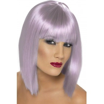 Glam Wig Fancy Dress Ladies - Lilac