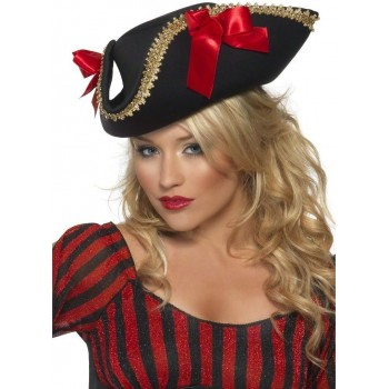 Fever Pirate Hat Fancy Dress Ladies (Pirates)