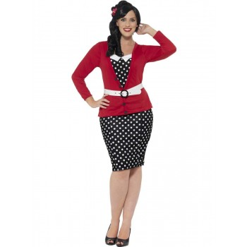 Curves 50s Pin Up Costume Fancy Dress