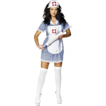 Nurse Naughty Fancy Dress Costume Ladies (Doctors/Nurses)