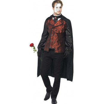 Mens Black/Bronze Dark Opera Masquerade  (Fancy Dress Costume)