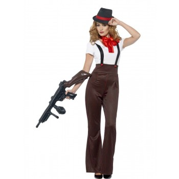 Glam Gangster Costume Fancy Dress