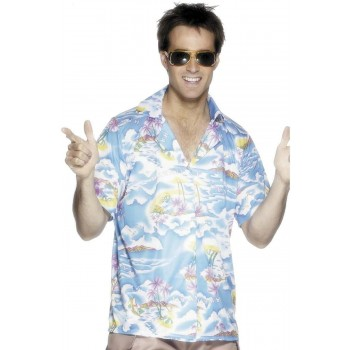 Hawaiian Shirt Fancy Dress Costume Mens (Hawaiian)