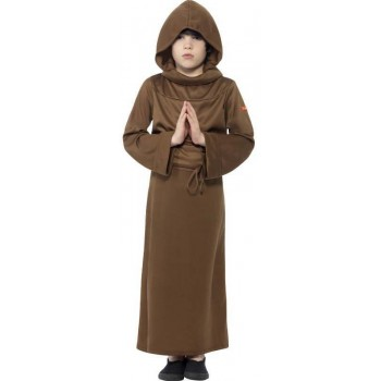 Boys Horrible Histories Holy Monk Fancy Dress Costume