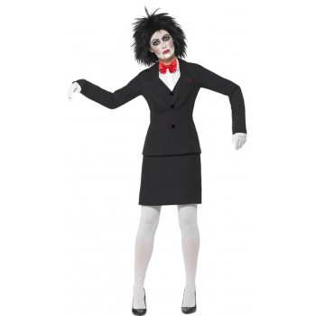 Ladies Black Jigsaw Halloween Fancy Dress Costume