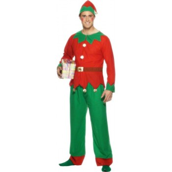 Elf Fancy Dress Costume Mens (Christmas)