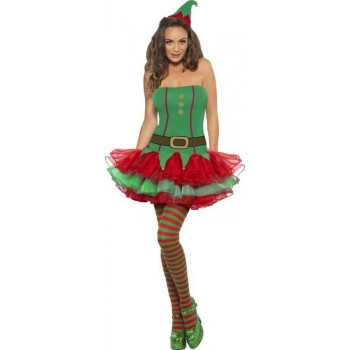 Fever Elf Fancy Dress Costume
