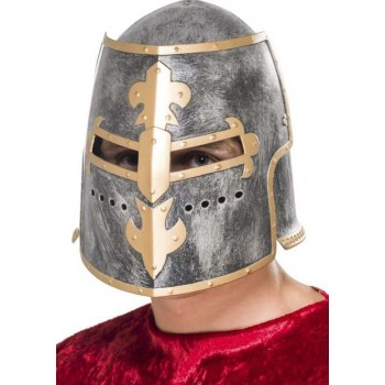 Mens Medieval Crusader Helmet Fancy Dress Accessory