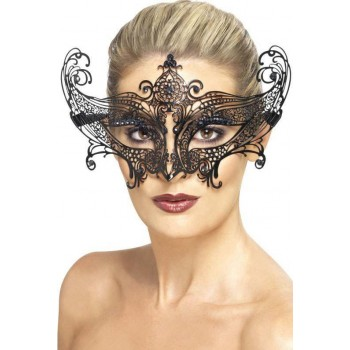 Ladies Farfalla Metal Filigree Eyemask (Fancy Dress Accessory)