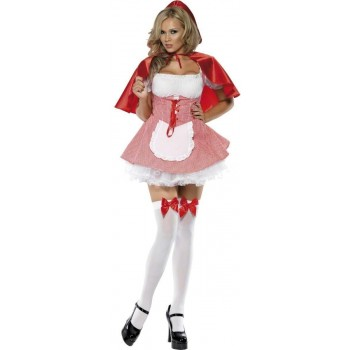 Fever Red Riding Hood Fancy Dress Costume Ladies (Fairy Tales , Sexy)