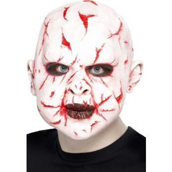 Scar Face Mask, Latex Overhead Mask(Fancy Dress Accessory)