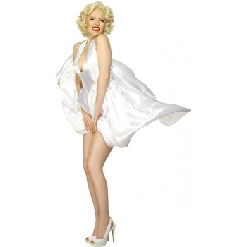 Marilyn Monroe Classic Halterneck Dress Costume Ladies (Music)
