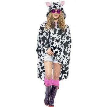 Adult Unisex Cow Party/Festival Poncho Fancy Dress Costume