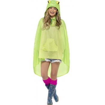Adult Unisex Frog Party/Festival Poncho Fancy Dress Costume