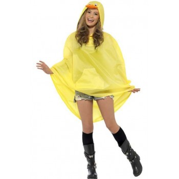 Adult Unisex Duck Party/Festival Poncho Fancy Dress Costume