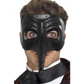 Venetian Gothic Capitano Mask Fancy Dress Accessory