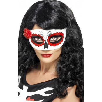 Unisex Mexican Day Of The Dead Eyemask (Fancy Dress Accessory)