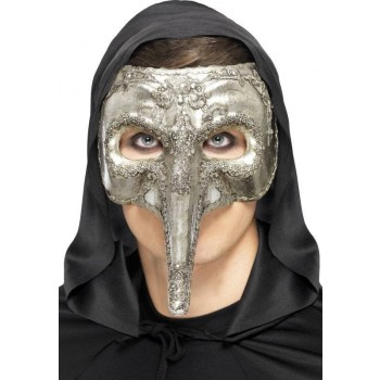 Luxury Venetian Capitano Mask(Fancy Dress Accessory)