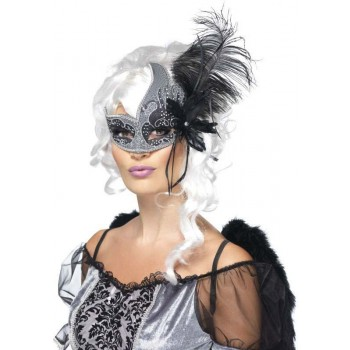 Ladies Masquerade Dark Angel Eyemask (Fancy Dress Accessory)