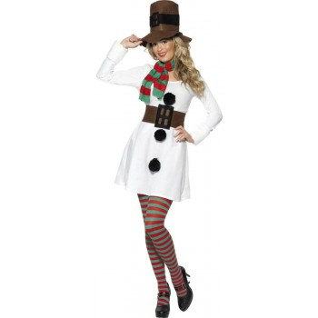 Miss Snowman Fancy Dress Costume Ladies (Christmas)