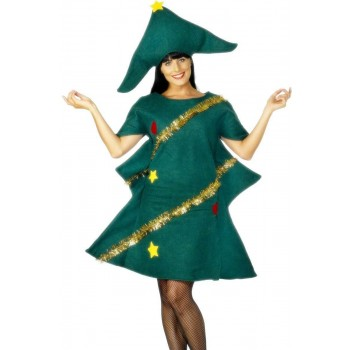 Christmas Tree Fancy Dress Costume Ladies (Christmas)
