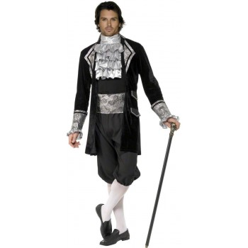 Fever Male Baroque Vampire Costume Mens Size 38-40 S (Halloween , Medieval)
