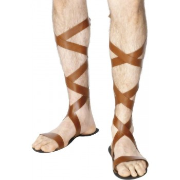 Roman Sandals - Fancy Dress Mens (Medieval)