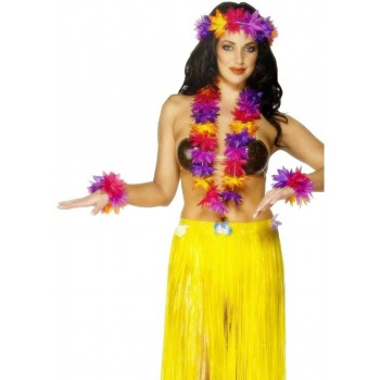 Hawaiian 4 Piece Set - Fancy Dress Ladies (Hawaiian)