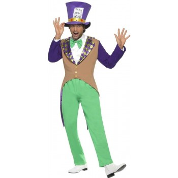 Mad Hatter Costume Adult Fancy Dress Costume Mens (Fairy Tales)