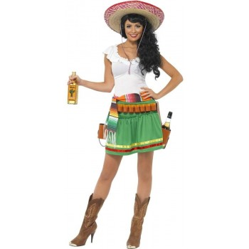 Tequila Shooter Girl Fancy Dress Costume Ladies (Cultures)