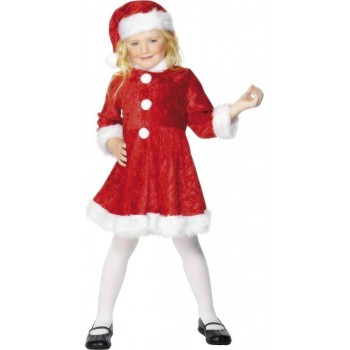 Mini Miss Santa Costume-Large Fancy Dress Costume Girls (Christmas)